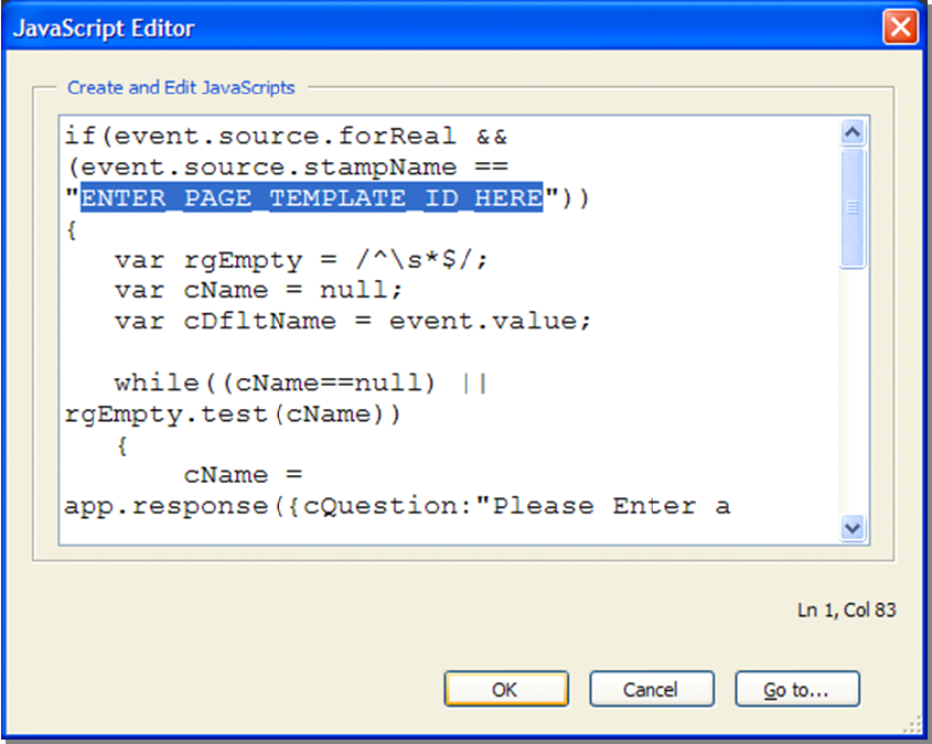 Topic: Adding Custom Scripts to Stamps