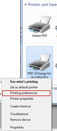 Step 1 - Opening the Printer Driver Printing Preferences Dialog