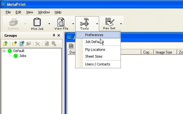 metaprint client